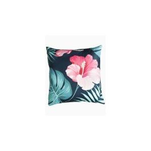 """Fab Habitat - Tropical Hibiscus Double Sided Indoor Outdoor Decorative Pillow - Multi (20"""" x 20"""")"""