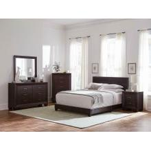 Product Image - Dorian Brown Faux Leather Upholstered Queen Bed