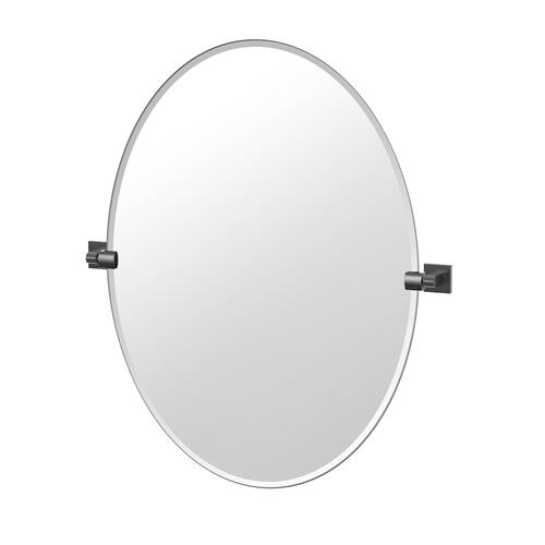 Elevate Oval Mirror in Matte Black