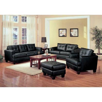 See Details - Samuel Transitional Black Sofa