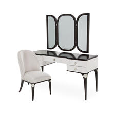 Product Image - Vanity Desk Mirror & Chair 3 PC