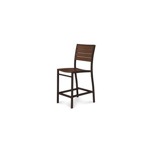 Polywood Furnishings - Eurou2122 Counter Side Chair in Textured Bronze / Mahogany