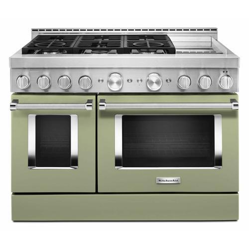KitchenAid - KitchenAid® 48'' Smart Commercial-Style Gas Range with Griddle - Avocado Cream