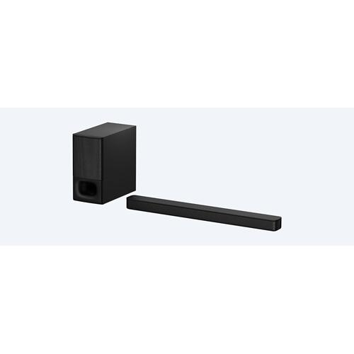 2.1ch Soundbar with powerful wireless subwoofer and BLUETOOTH® technology  HT-S350 & HT-SD35