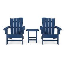 View Product - Wave 3-Piece Adirondack Chair Set in Navy