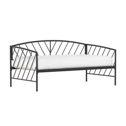 Essex Twin Metal Daybed, Gray Bronze