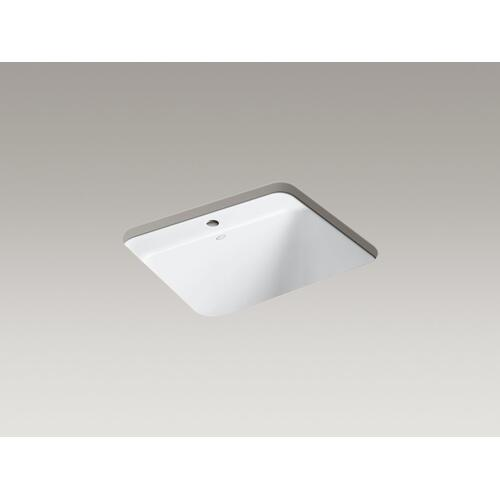 """White 25"""" X 22"""" X 13-5/8"""" Top-mount/undermount Utility Sink With Single Faucet Hole"""