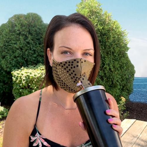Happy Hour Reusable Face Mask in Paisley Poppy