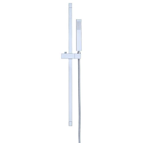 "Chrome Versa Square 30"" Slide Bar Assembly with Single Function Rectangular Handshower, 2.0gpm"