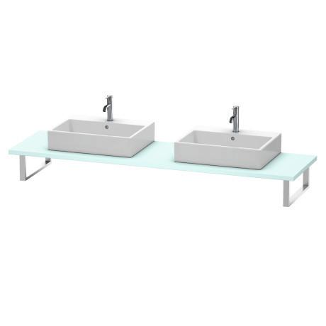 Console For Above-counter Basin And Vanity Basin, Light Blue Matte (decor)