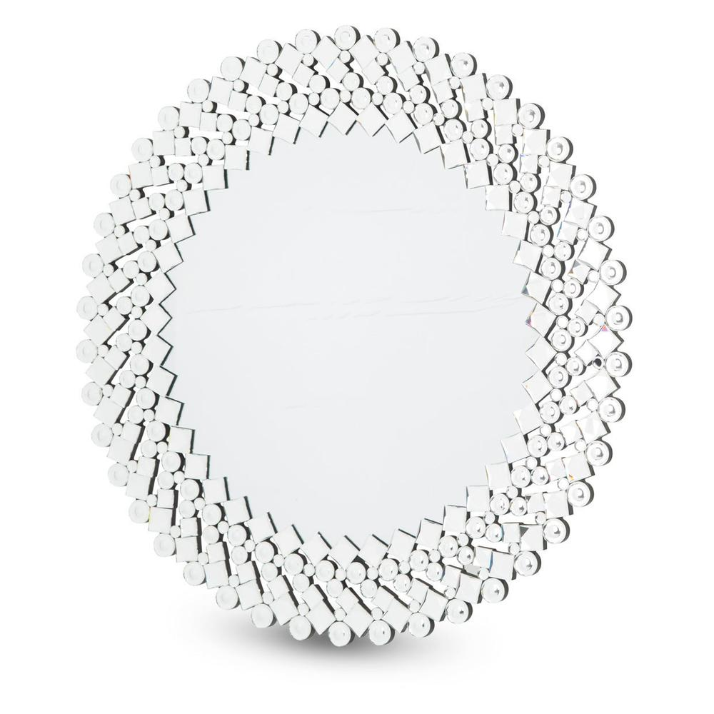 See Details - Round Facet Silver Mirror 8017