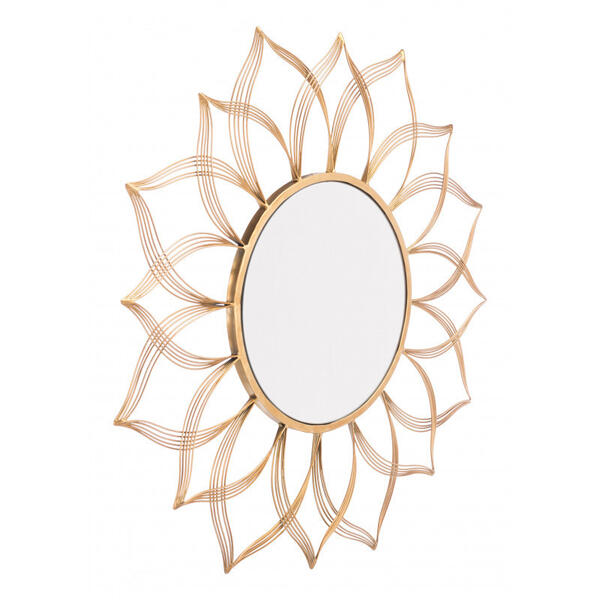 Flower Mirror Gold