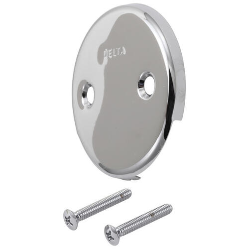 Delta Faucet Company - Chrome Overflow Plate & Screws - No Trip Lever