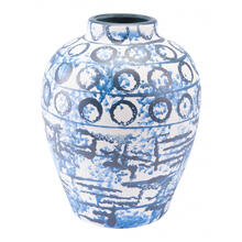 Medium Ree Vase Blue & White