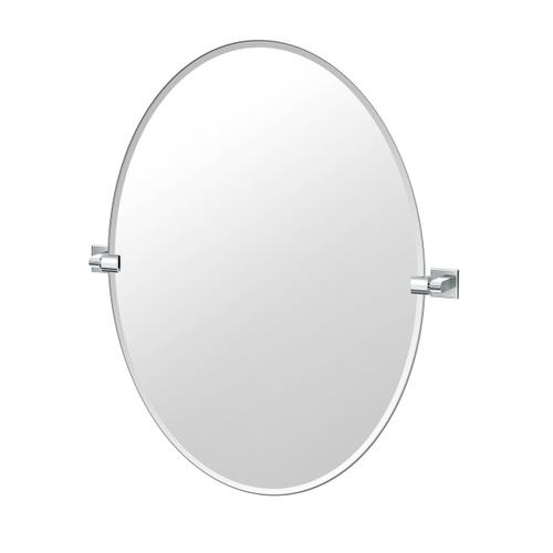 Mode Oval Mirror in Chrome