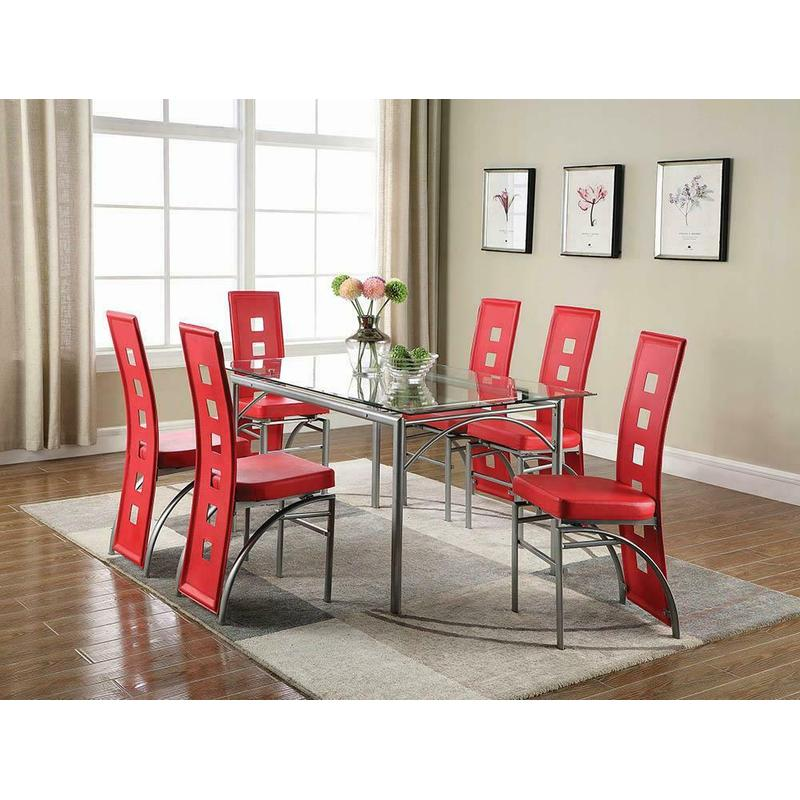 View Product - Los Feliz Contemporary Red Dining Chair