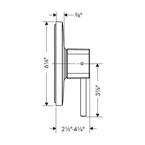 White/chrome Pressure Balance Trim
