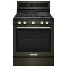 See Details - 30-Inch 5-Burner Gas Convection Range - Black Stainless Steel with PrintShield™ Finish