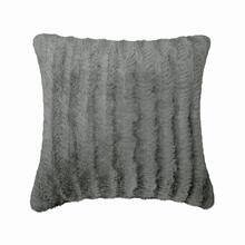 Fun Fur Chevron Cushion - Grey