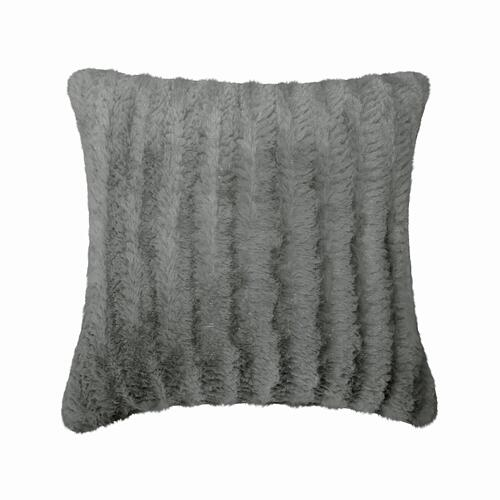 Fun Fur Chevron Cushion - Taupe