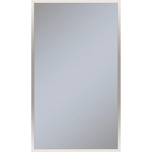 """Profiles 23-1/4"""" X 39-3/8"""" X 4"""" Framed Cabinet In Polished Nickel With Electrical Outlet, Usb Charging Ports, Magnetic Storage Strip and Left Hinge"""