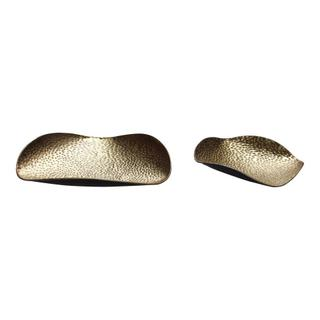 See Details - Hammered Gold Tray S/ 2