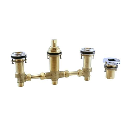 Four-Hole Roman Tub Filler Rough-in - Brushed Nickel