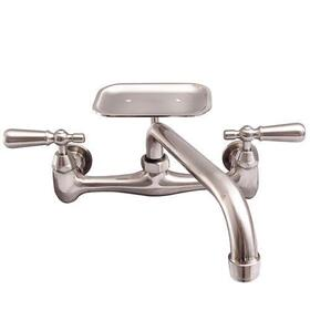 Dollie Wall Mount Kitchen Faucet - Brushed Nickel / With Soap Dish