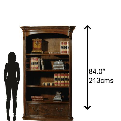 Hekman - 7-9164 office@home Old World Walnut Bookcase