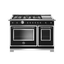View Product - 48 inch All-Gas Range 6 Brass Burner and Griddle Nero Matt