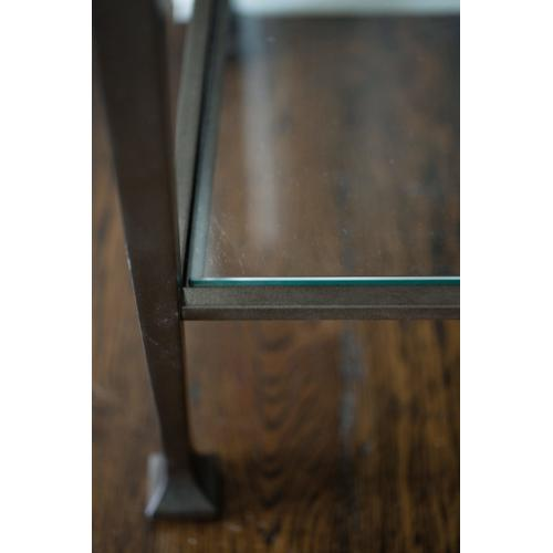 Santa Barbara End Table in Sandstone (385), Vintage Nickel Metal (385)