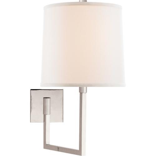 Barbara Barry Aspect 14 inch 100 watt Polished Nickel Swing-Arm Wall Light