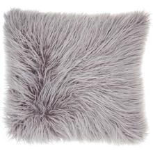 "Faux Fur Bj101 Lavender 17"" X 17"" Throw Pillow"