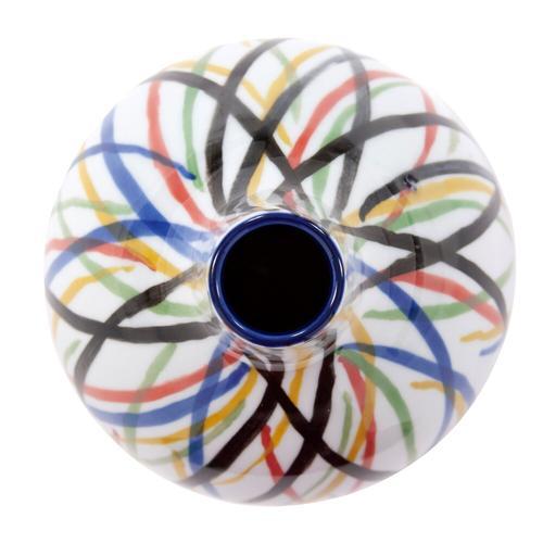 Howard Elliott - Color Web Ceramic Bottle Vase