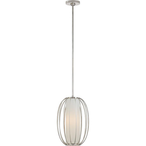 Barbara Barry Carousel 1 Light 11 inch Polished Nickel Lantern Pendant Ceiling Light, Small Oblong