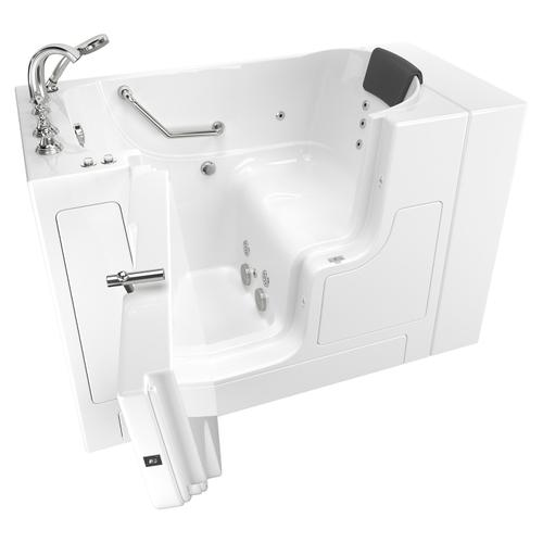American Standard - Gelcoat Premium Series 30x52 Inch Walk-in Tub with Whirlpool System and Outward Opening Door, Left Drain  American Standard - White