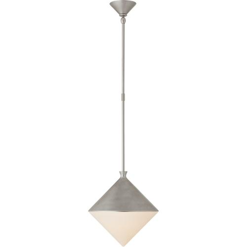 AERIN Sarnen LED 13 inch Burnished Silver Leaf Pendant Ceiling Light, Small