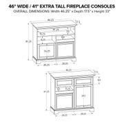 FT46A Extra Tall Fireplace Custom TV Console Product Image