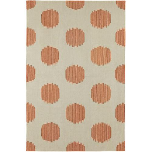 NY Dot Persimmon Flat Woven Rugs