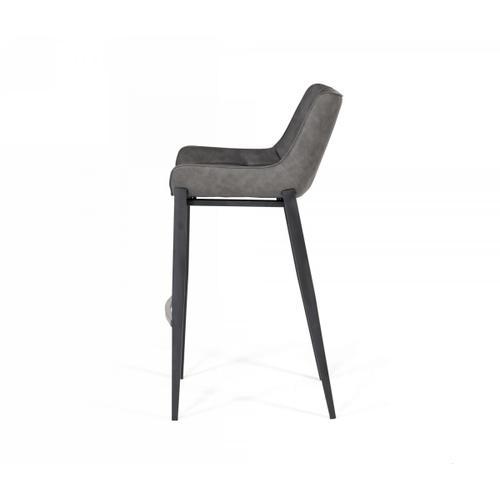 VIG Furniture - Modrest Robert - Modern Grey Eco-Leather Bar Stool (Set of 2)