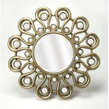 Enjoy this mirror in any room in your home. It's stylish flower inspired frame gives it that little something extra that makes the mirror pop, as opposed to simple mirrors that just hang on your wall. Enjoy not only admiring this mirror, but the reflection looking back at you as well.