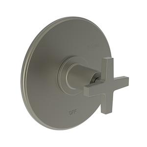 Gun Metal Balanced Pressure Shower Trim Plate with Handle. Less showerhead, arm and flange.