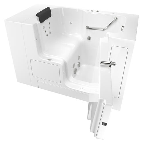 American Standard - Premium Series 32x52-inch Walk-In Tub with Whirlpool System and Outswing Door  American Standard - White