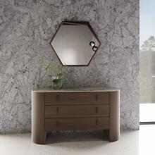 View Product - Modrest Chelton - Contemporary White Ceramic & Walnut Dresser