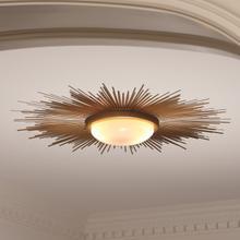 See Details - Sunburst Light Fixture-Gold