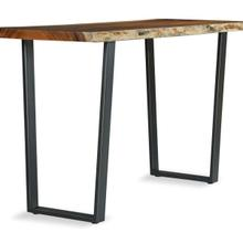 """See Details - Live Edge 40"""" Pub Height Metal Trapezoid Base (base Only)"""