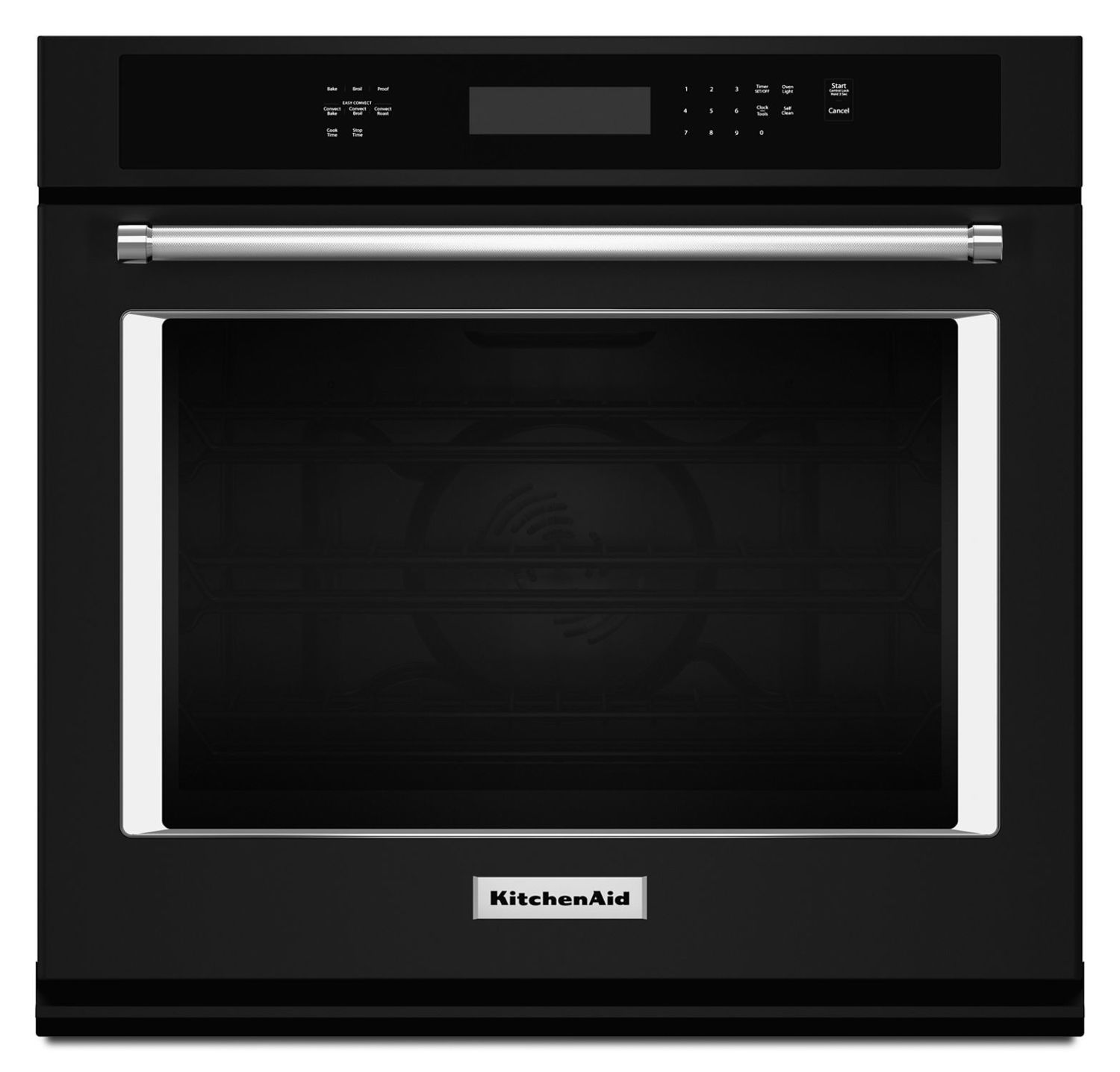 """Kitchenaid27"""" Single Wall Oven With Even-Heat True Convection Black"""