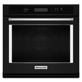 "27"" Single Wall Oven with Even-Heat True Convection Black"