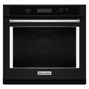 "27"" Single Wall Oven with Even-Heat True Convection Black Product Image"