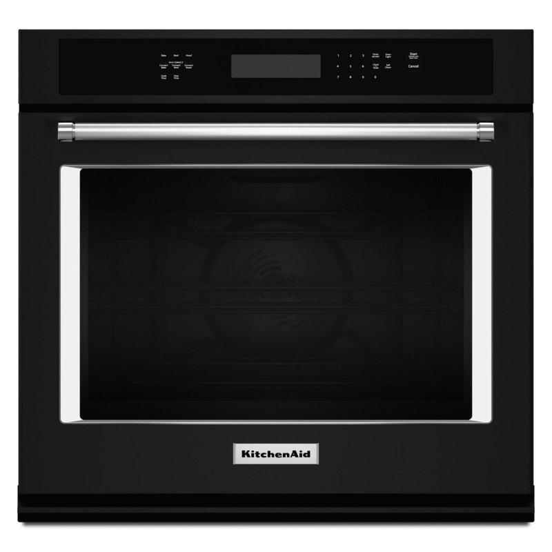 """27"""" Single Wall Oven with Even-Heat True Convection Black"""